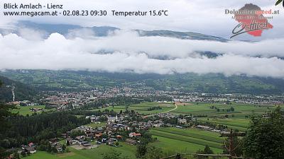 Webcam Amlach mit Blick aufs Zettersfeld -GleitschirmTandemflug